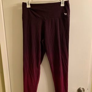 Pink brand burgundy ombre leggings size large